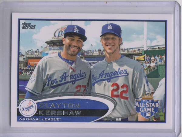 2012 Topps Update #US52B Clayton Kershaw/With Kemp SP