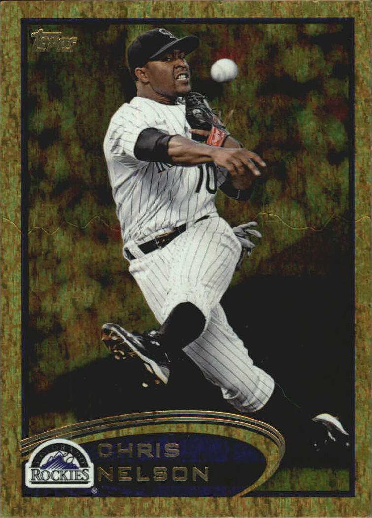 2012 Topps Update Gold Sparkle #US22 Chris Nelson