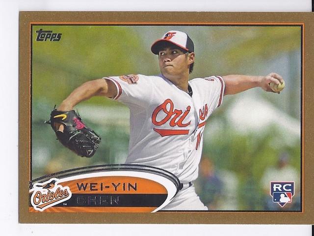 2012 Topps Gold #432 Wei-Yin Chen