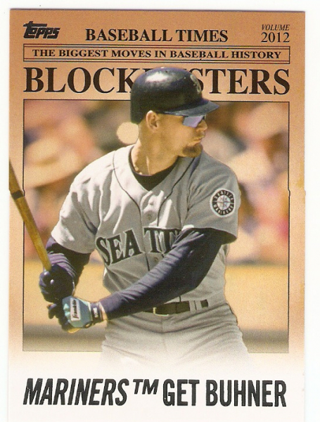 2012 Topps Update Blockbusters #BB6 Jay Buhner