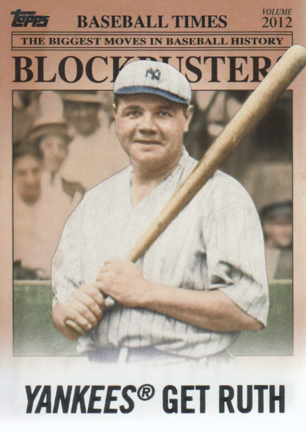 2012 Topps Update Blockbusters #BB15 Babe Ruth