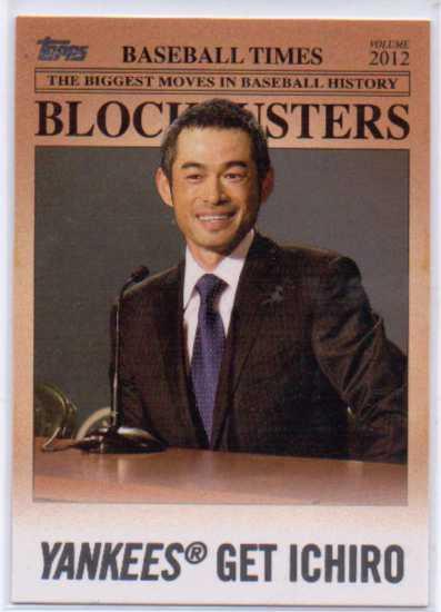 2012 Topps Update Blockbusters #BB23 Ichiro Suzuki