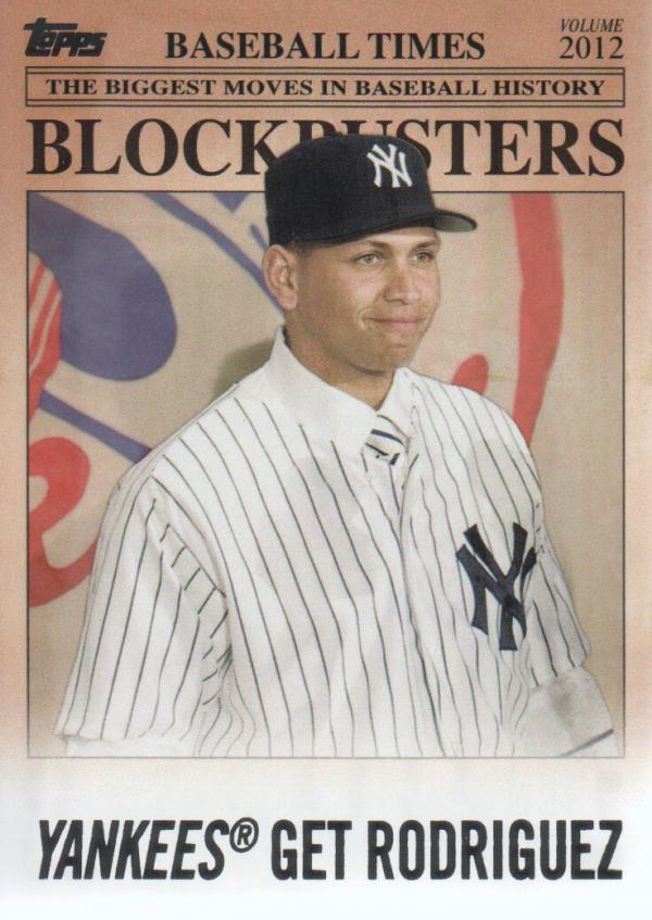 2012 Topps Update Blockbusters #BB25 Alex Rodriguez