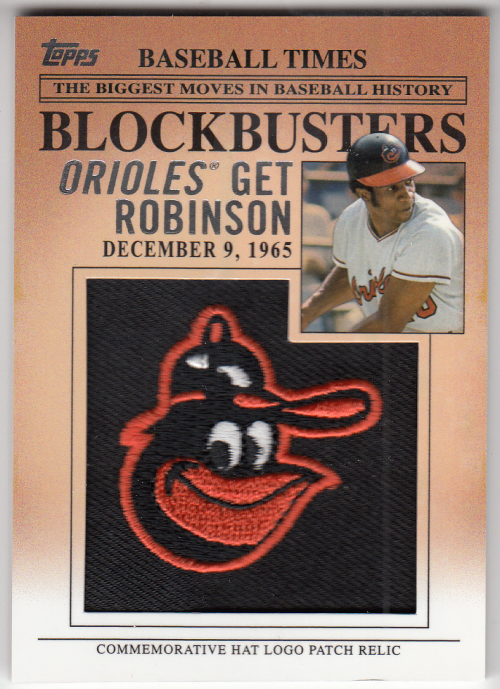 2012 Topps Update Blockbusters Commemorative Hat Logo Patch #BP3 Frank Robinson