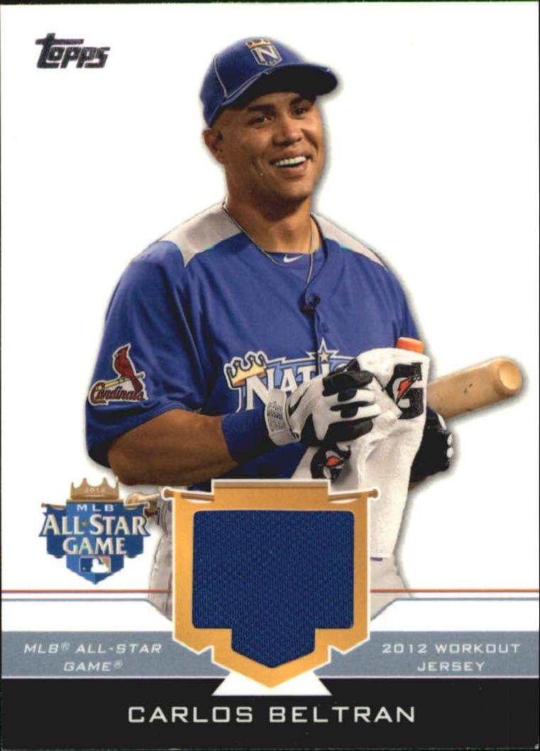 2012 Topps Update All-Star Stitches #CB Carlos Beltran