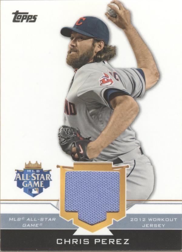 2012 Topps Update All-Star Stitches #CP Chris Perez