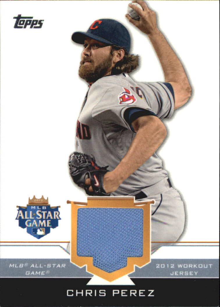 2012 Topps Update All-Star Stitches #CP Chris Perez