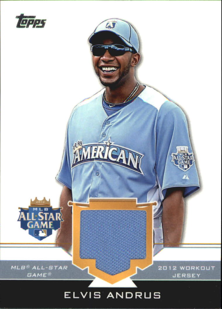 2012 Topps Update All-Star Stitches #EA Elvis Andrus