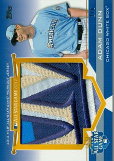 2012 Topps Update All-Star Stitches Jumbo Patches # AD Adam Dunn