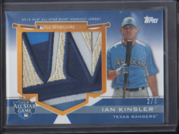 2012 Topps Update All-Star Stitches Jumbo Patches # IK Ian Kinsler