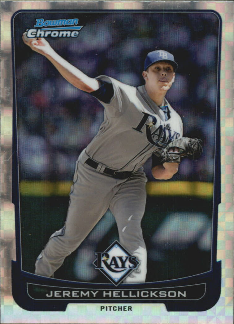 2012 Bowman Chrome Superfractors #4 Jeremy Hellickson