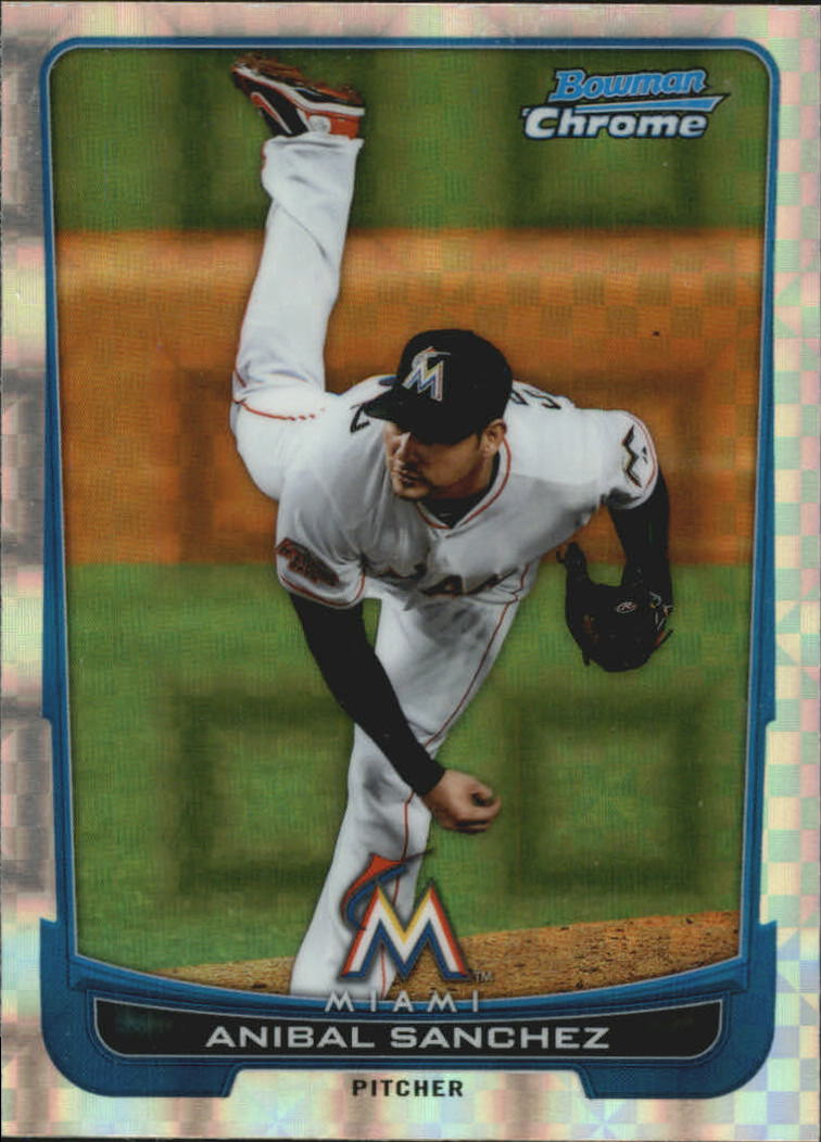 2012 Bowman Chrome Superfractors #8 Anibal Sanchez