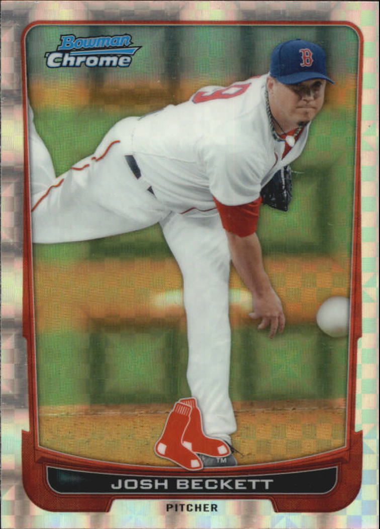 2012 Bowman Chrome Superfractors #15 Josh Beckett