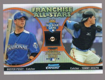 2012 Bowman Chrome Franchise All-Stars #PJ Tommy Joseph/Buster Posey