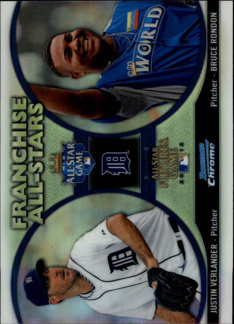 2012 Bowman Chrome Franchise All-Stars #VR Bruce Rondon/Justin Verlander