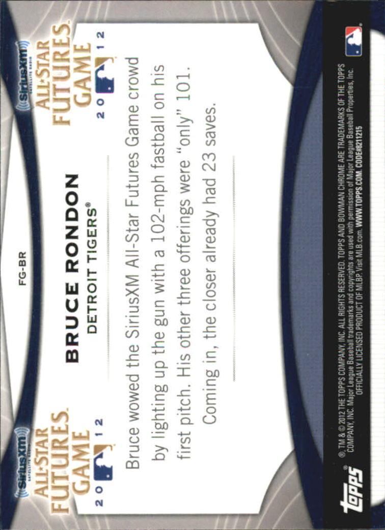 2012 Bowman Chrome Futures Game #BR Bruce Rondon back image