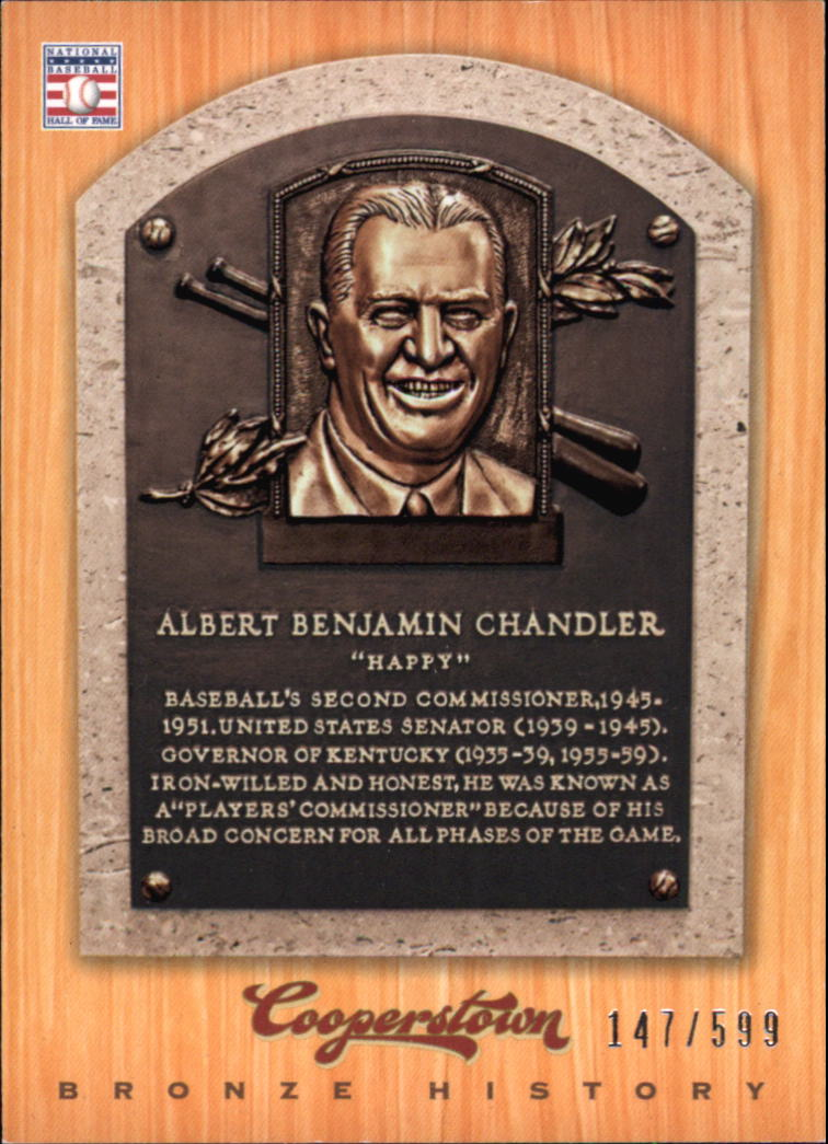 2012 Panini Cooperstown Bronze History #16 Happy Chandler