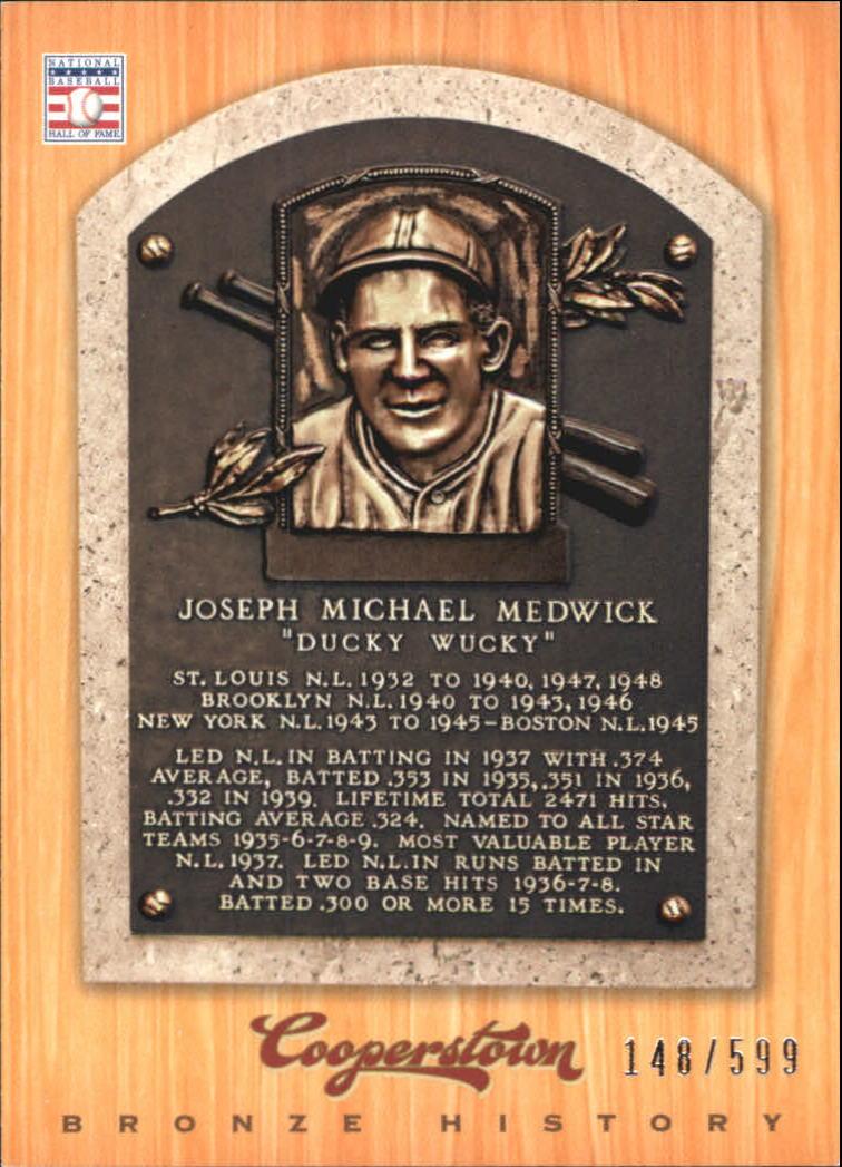 2012 Panini Cooperstown Bronze History #61 Joe Medwick