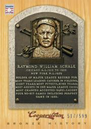 2012 Panini Cooperstown Bronze History #75 Ray Schalk