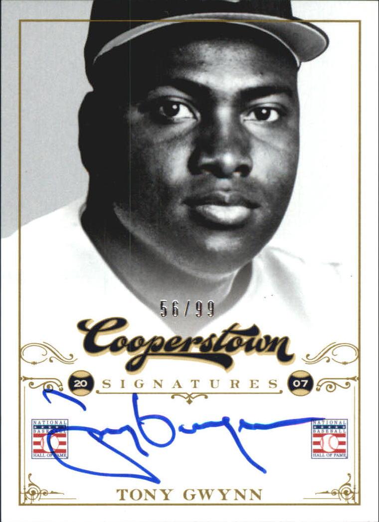 2012 Panini Cooperstown Signatures #15 Tony Gwynn/99