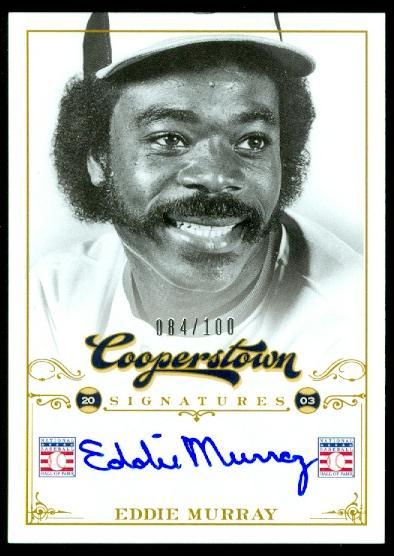 2012 Panini Cooperstown Signatures #34 Eddie Murray/100