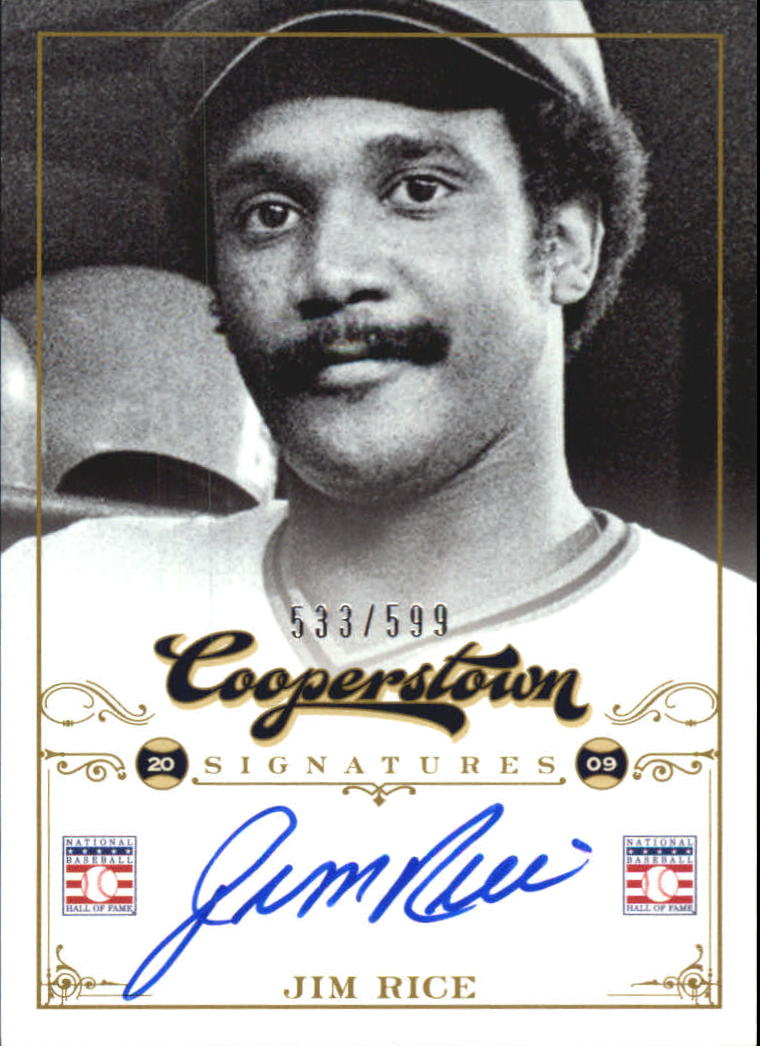 2012 Panini Cooperstown Signatures #53 Jim Rice/599