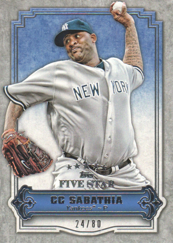 2012 Topps Five Star #9 CC Sabathia