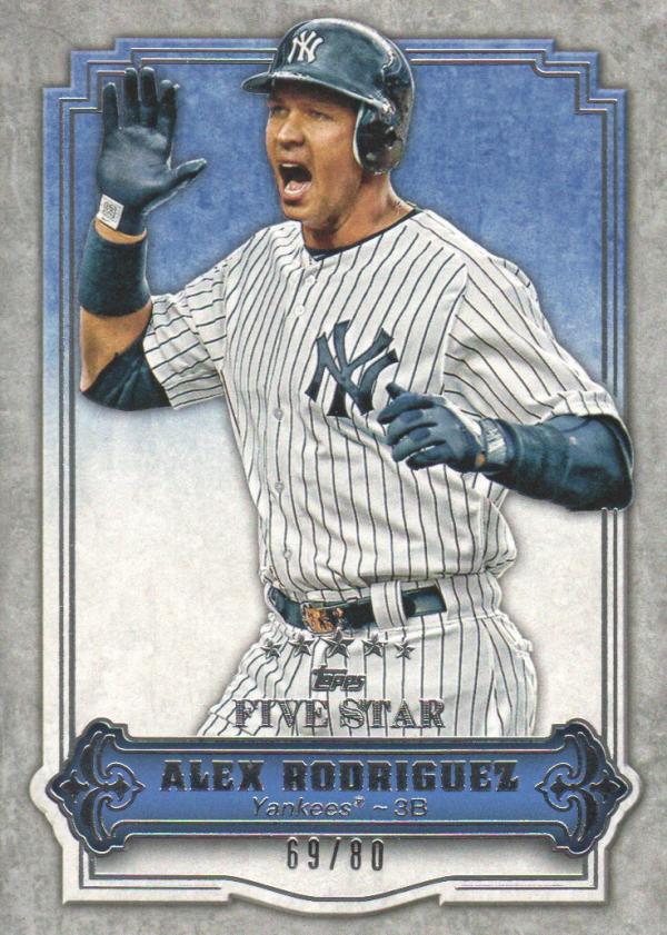 2012 Topps Five Star #15 Alex Rodriguez