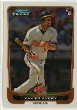 2012 Bowman Chrome Draft #34 Xavier Avery RC