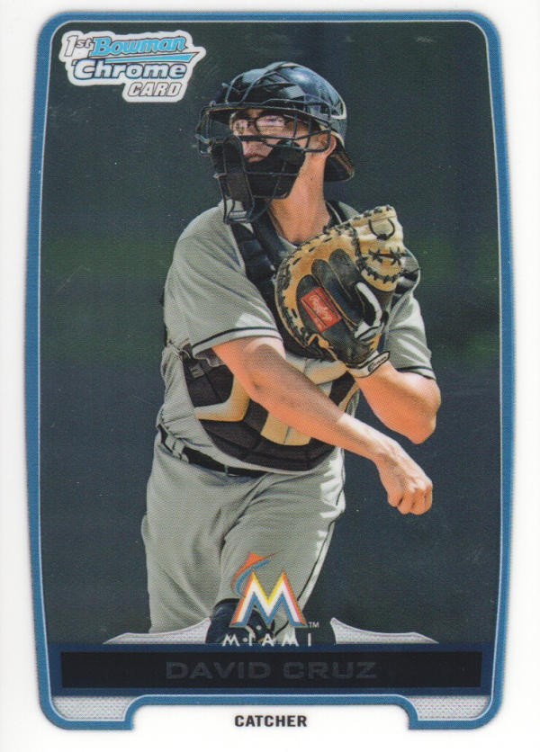2012 Bowman Chrome Draft Draft Picks #BDPP152 David Cruz