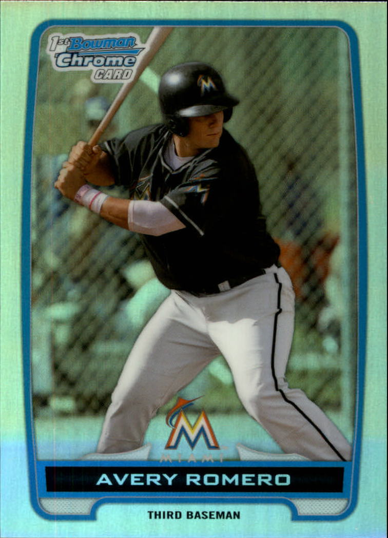 2012 Bowman Chrome Draft Draft Picks Refractors #BDPP52 Avery Romero
