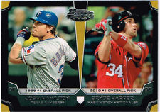 2012 Bowman Draft Dual Top 10 Picks #HH Josh Hamilton/Bryce Harper