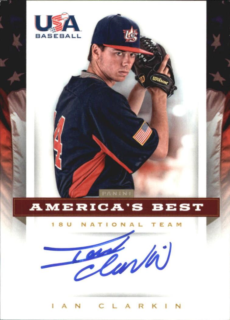 2012 USA Baseball 18U National Team America's Best Signatures #6 Ian Clarkin