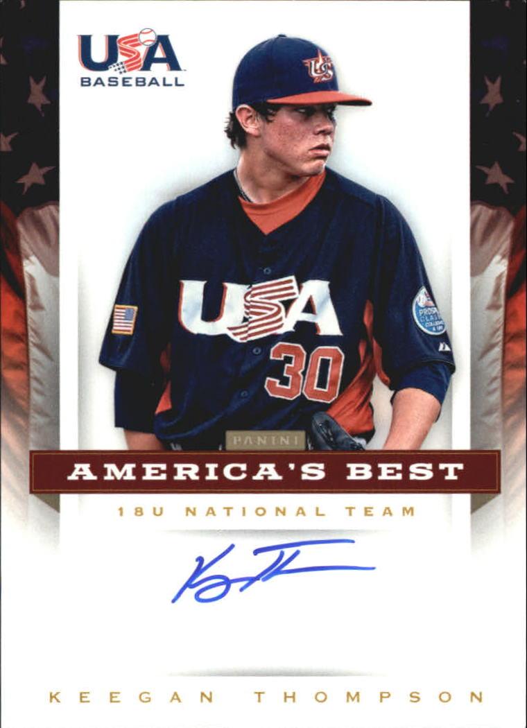 2012 USA Baseball 18U National Team America's Best Signatures #19 Keegan Thompson