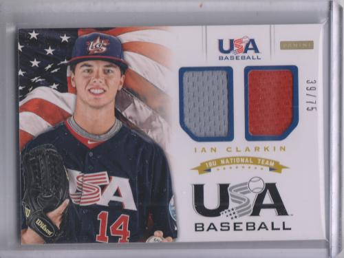 2012 USA Baseball 18U National Team Dual Jersey #6 Ian Clarkin