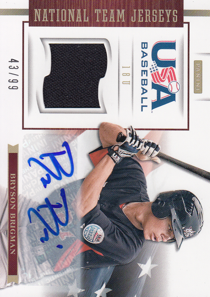 2012 USA Baseball 18U National Team Jersey Signatures #5 Bryson Brigman