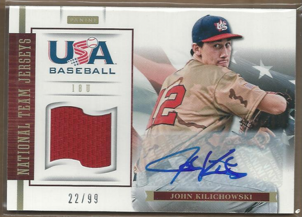 2012 USA Baseball 18U National Team Jersey Signatures #10 John Kilichowski