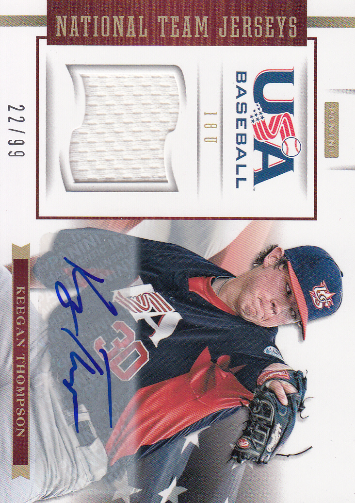2012 USA Baseball 18U National Team Jersey Signatures #18 Keegan Thompson