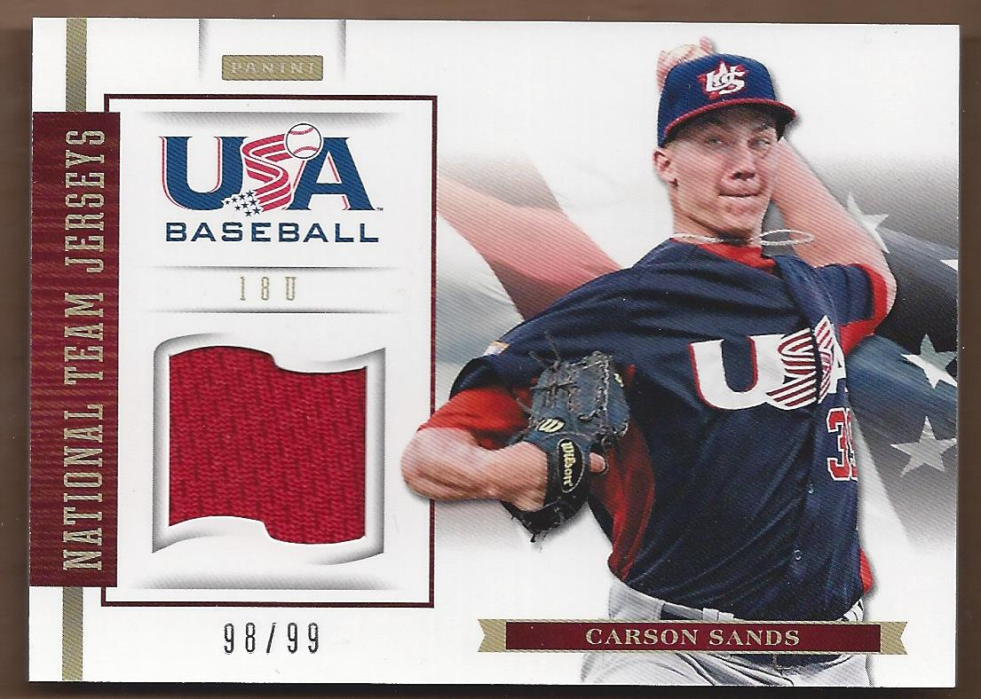 2012 USA Baseball 18U National Team Jerseys #16 Carson Sands