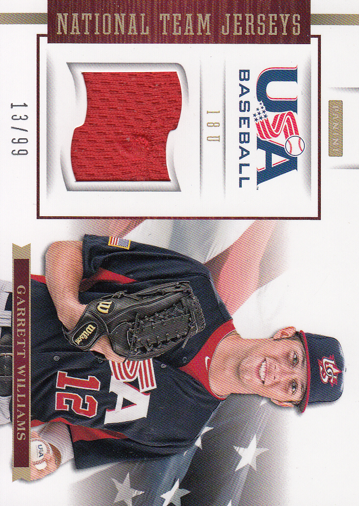 2012 USA Baseball 18U National Team Jerseys #19 Garrett Williams