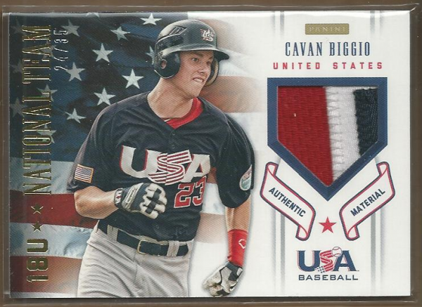 2012 USA Baseball 18U National Team Patches #3 Cavan Biggio