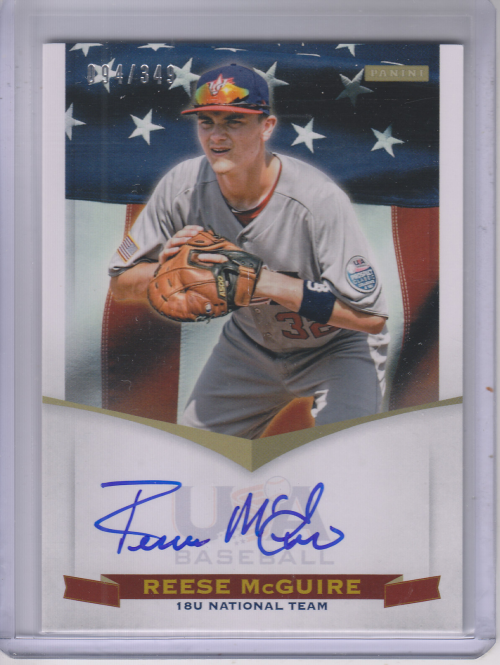 2012 USA Baseball 18U National Team Signatures #13 Reese McGuire