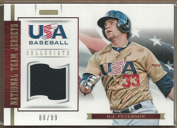2012 USA Baseball Collegiate National Team Jerseys #14 D.J. Peterson