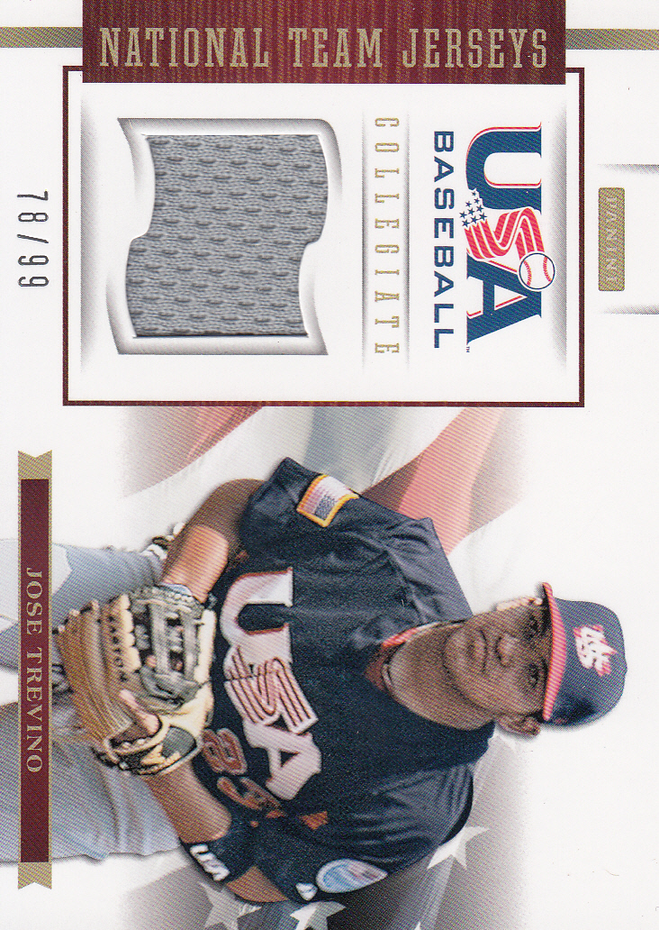 2012 USA Baseball Collegiate National Team Jerseys #20 Jose Trevino