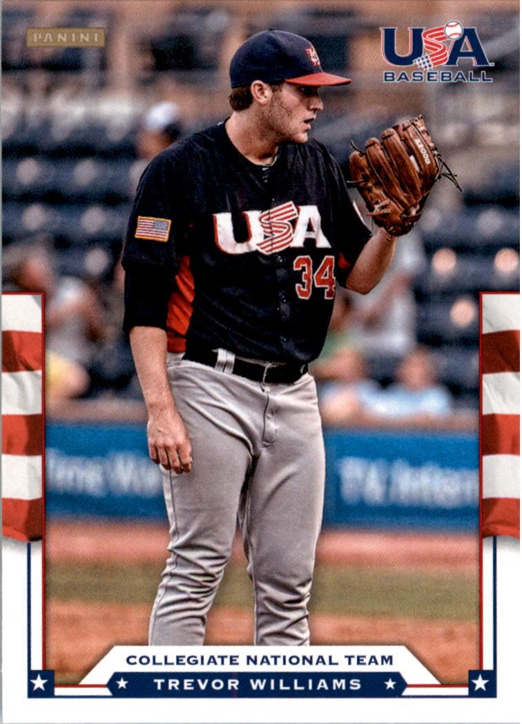 2012 USA Baseball #23 Trevor Williams