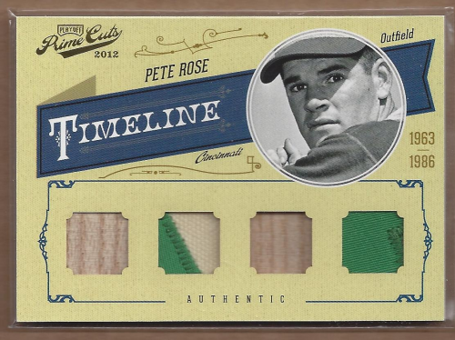 2012 Prime Cuts Timeline Material Player Quads Prime #16 Pete Rose/5