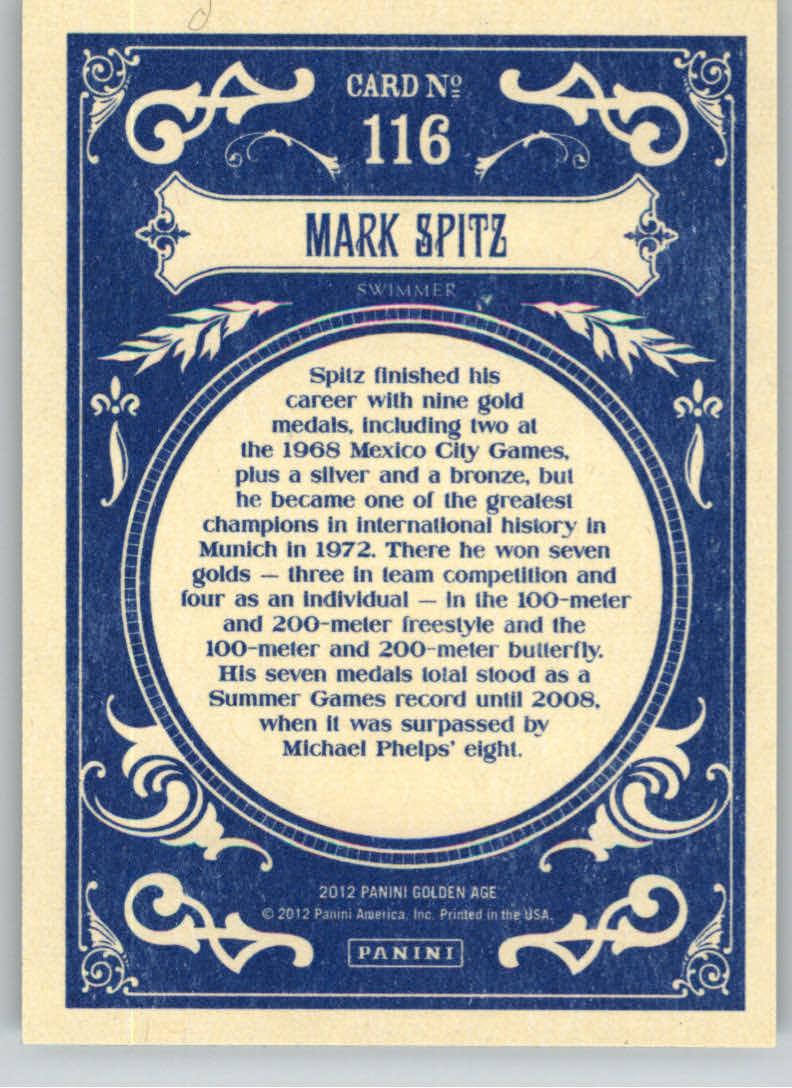 2012 Panini Golden Age #116 Mark Spitz back image