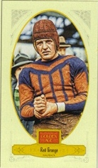2012 Panini Golden Age Mini Broadleaf Brown Ink #33 Red Grange