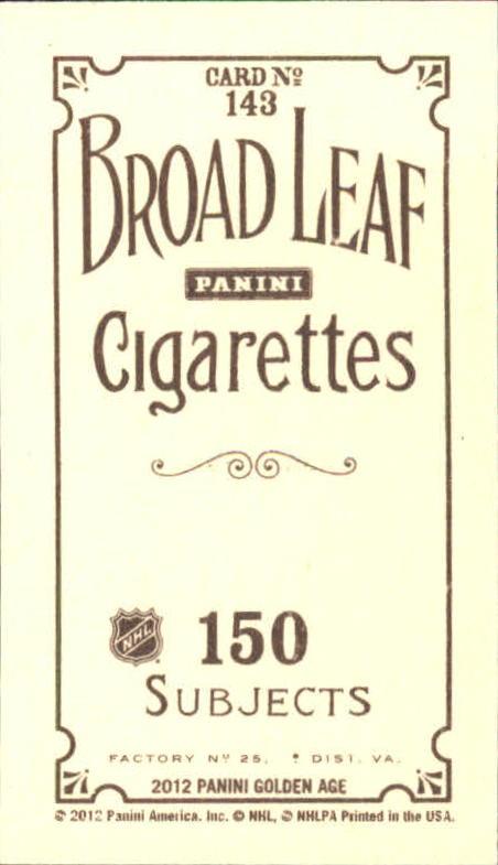 2012 Panini Golden Age Mini Broadleaf Brown Ink #143 Gordie Howe back image