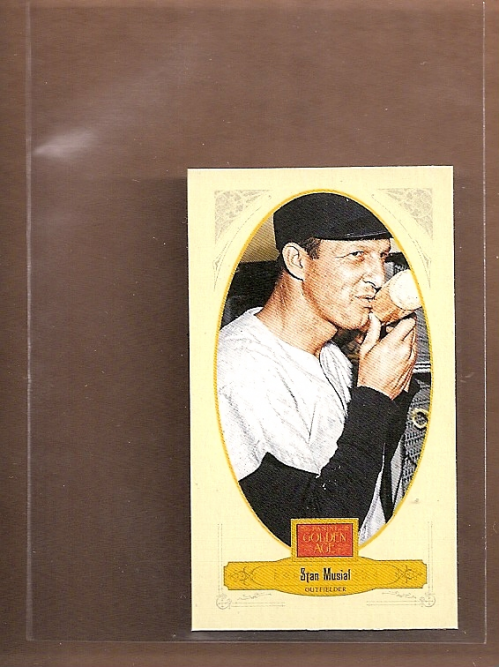 2012 Panini Golden Age Mini Crofts Candy Red Ink #52 Stan Musial
